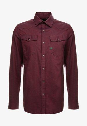 3301 SLIM SHIRT - Camisa - dark burned red