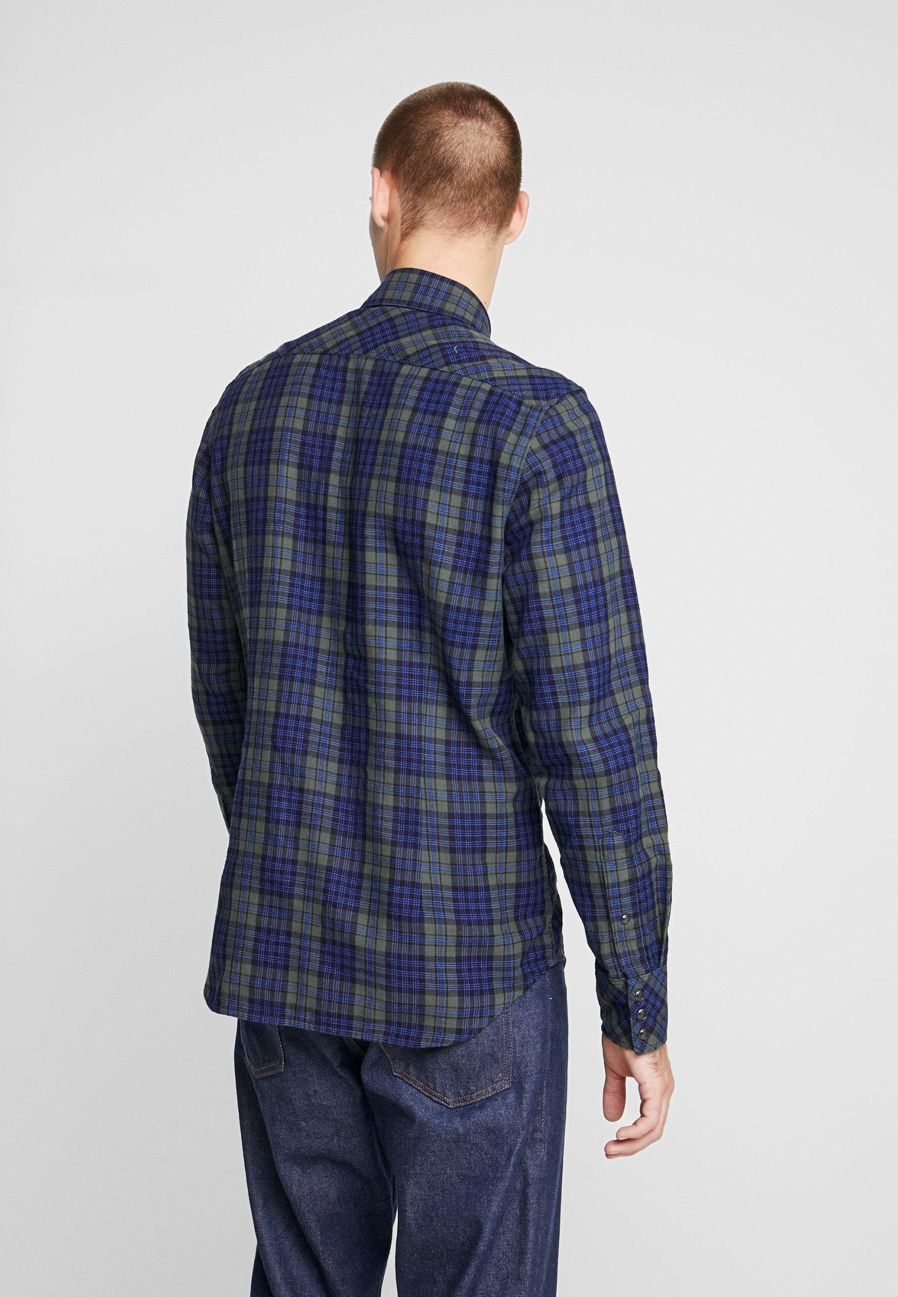 G-star Slim Shirt - Chemise Indigo/dark Vermont Green