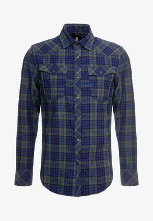 SLIM SHIRT - Camisa - indigo/dark vermont green