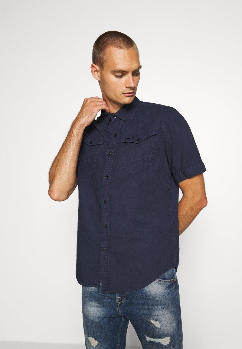 G-Star - ARC 3D SLIM SHIRT S\S - Shirt - sartho blue