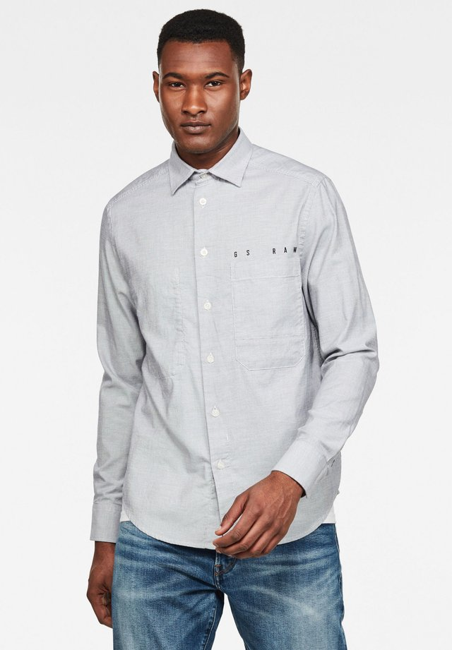 DOWL STRAIGHT - Overhemd - white/mazarine blue oxford