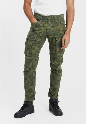 ROVIC 3D STRAIGHT TAPERED - Pantalon cargo - sage/battle green