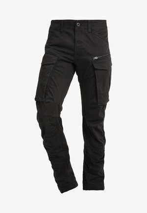 ROVIC ZIP 3D STRAIGHT TAPERED - Pantalon cargo - raven