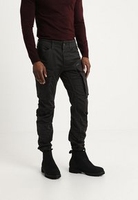 G-Star - ROVIC ZIP 3D STRAIGHT TAPERED - Cargo trousers - raven - 0