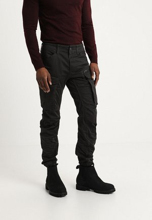 ROVIC ZIP 3D STRAIGHT TAPERED - Cargohose - raven