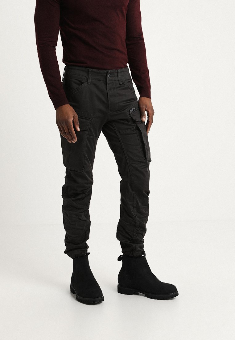 G-Star - ROVIC ZIP 3D TAPERED - Cargo trousers - raven