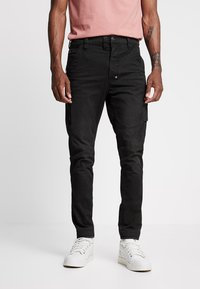 G-Star - 3D CARGO SLIM TAPERED - Cargo trousers - asfalt - 0