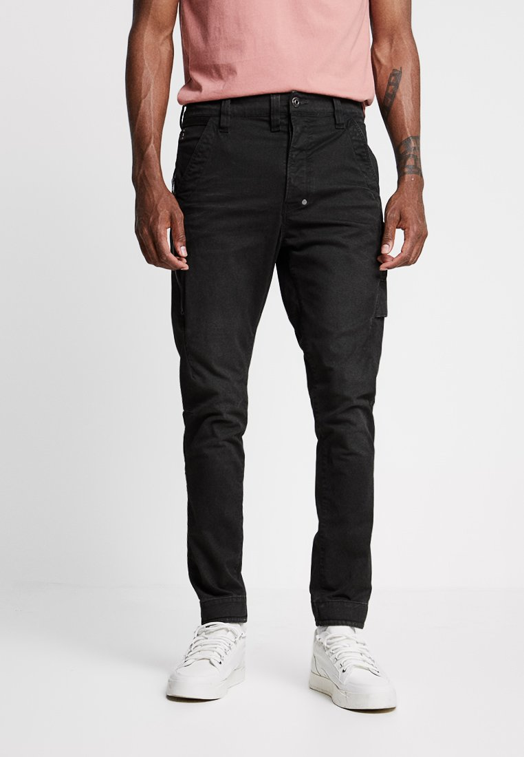 G-Star - 3D CARGO SLIM TAPERED - Cargo trousers - asfalt