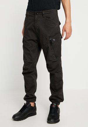 ROXIC STRAIGHT TAPERED - Pantalon cargo - raven