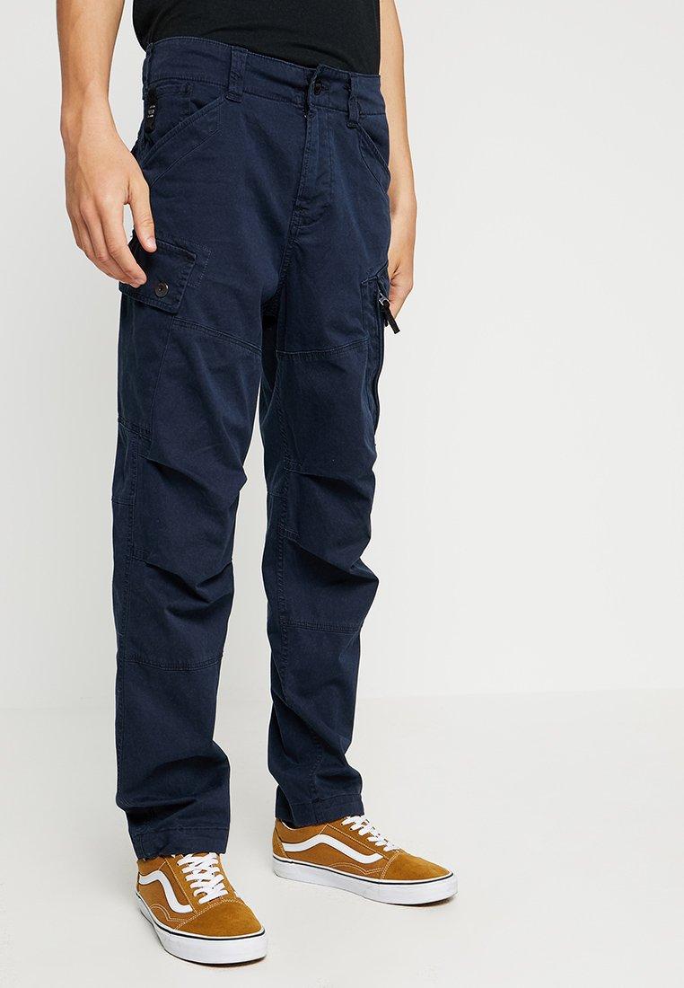 G-Star - ROXIC STRAIGHT TAPERED - Cargo trousers - premium micro str twill od - mazarine blue
