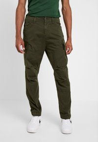G-Star - ROXIC STRAIGHT TAPERED - Cargo trousers - dark bronze green - 0