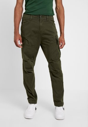 ROXIC STRAIGHT TAPERED - Cargo trousers - dark bronze green