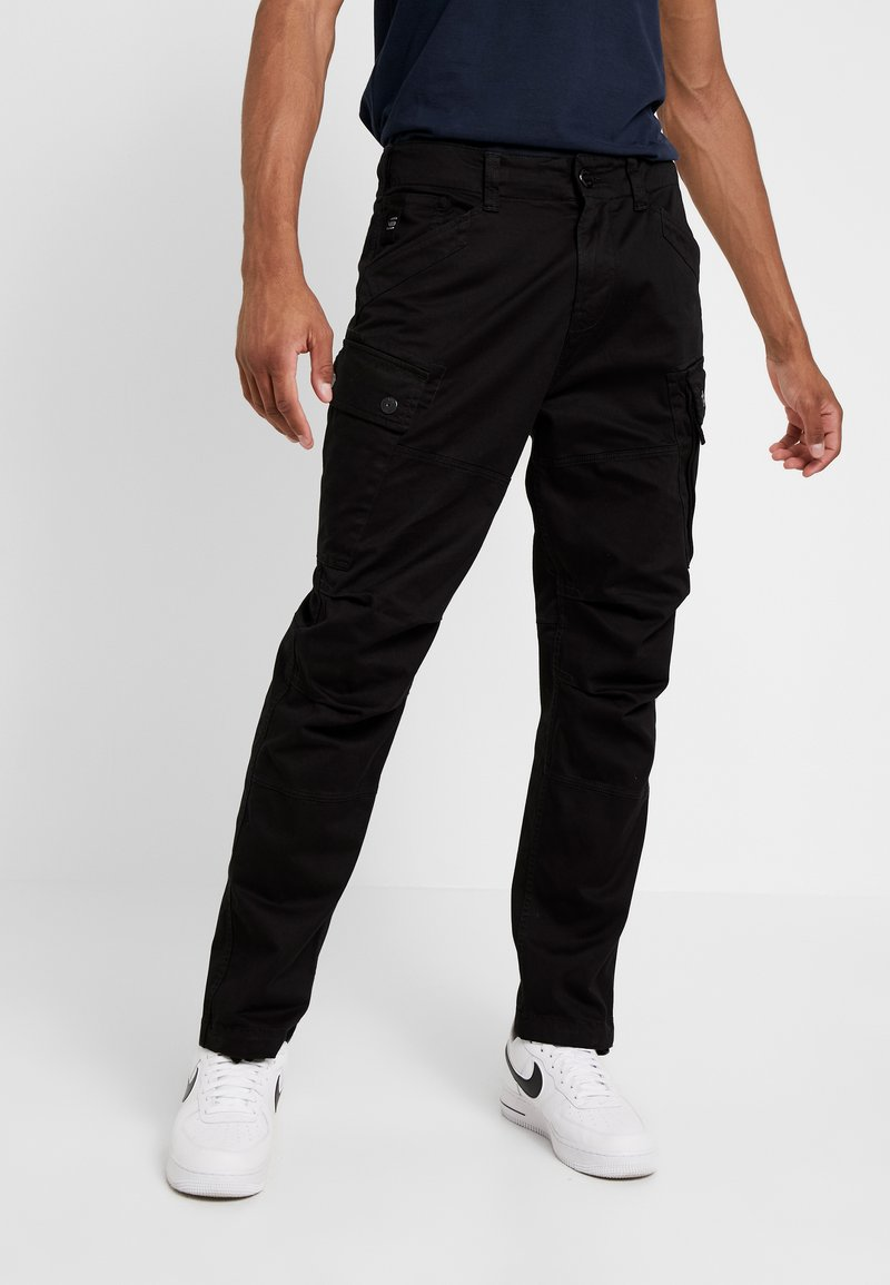 G-Star - ROXIC STRAIGHT TAPERED - Cargobukse - black