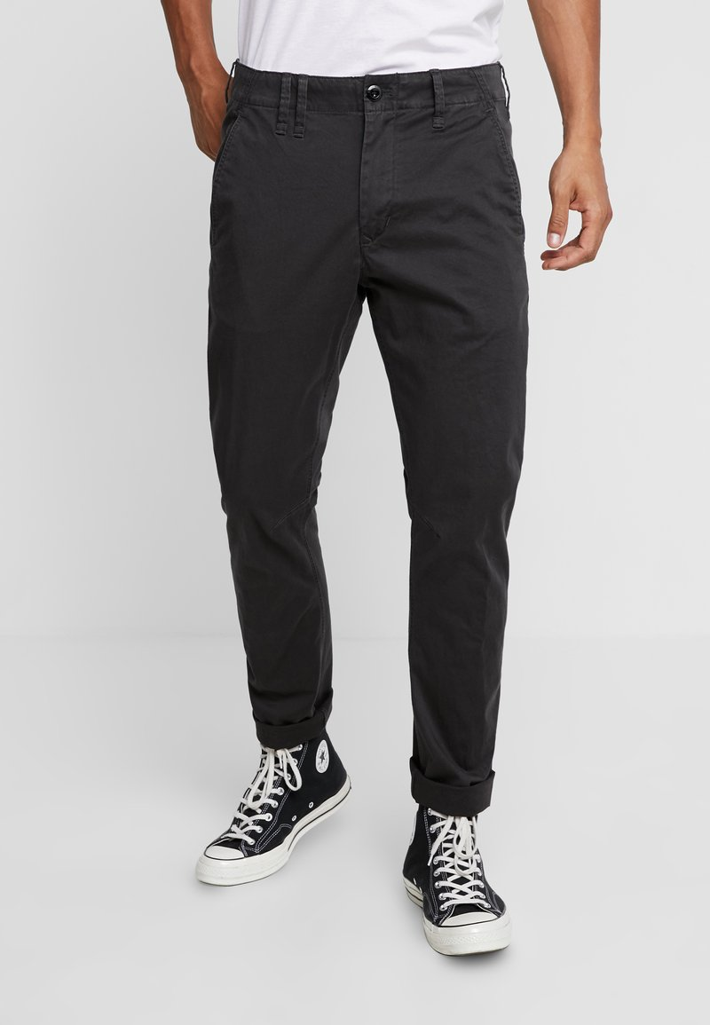G-Star - VETAR SLIM FIT - Chinot - premium micro str twill - raven