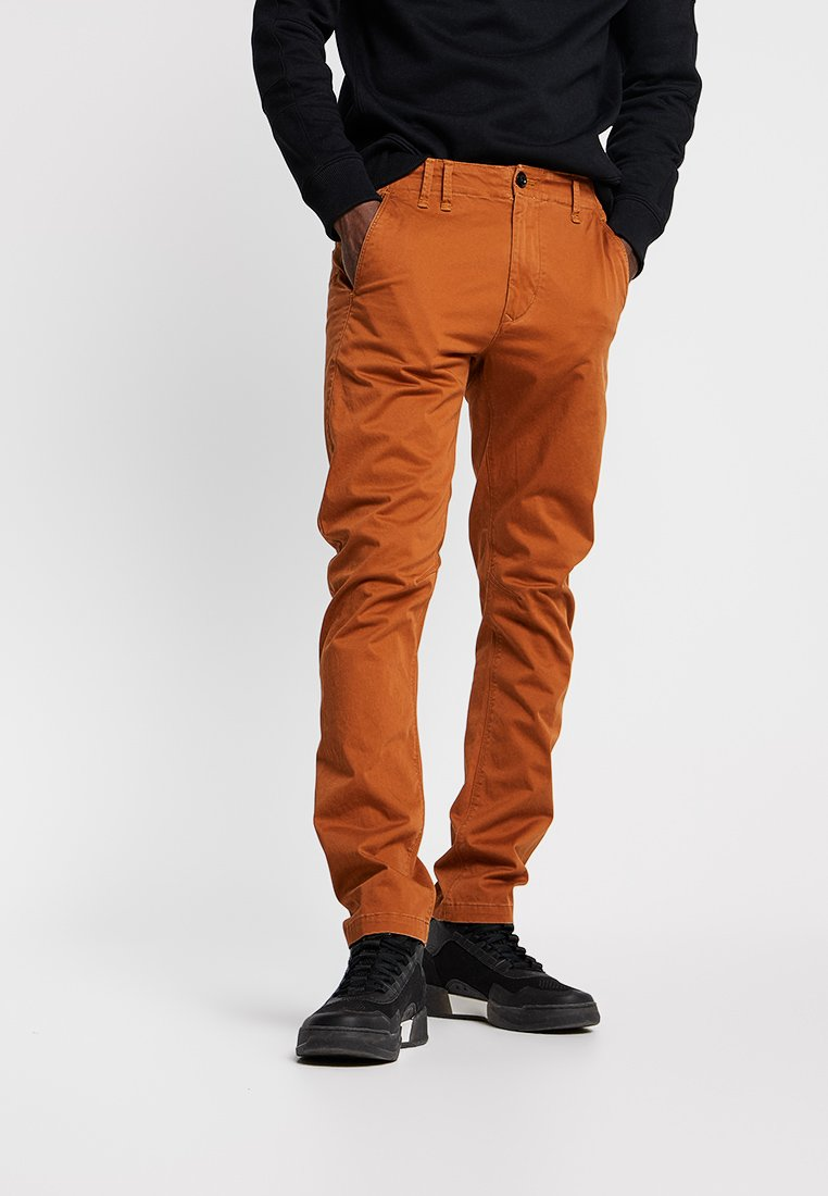 G-Star - VETAR SLIM FIT - Chino - premium micro str twill - aged almond