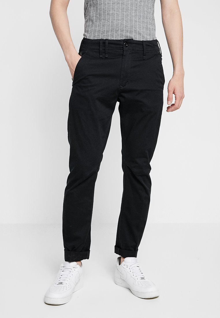 G-Star - VETAR SLIM FIT - Pantalones chinos - premium micro str twill - dk black