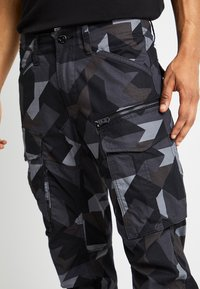 G-Star - ROVIX TAPARED - Cargo trousers - black/ grey/ anthracite - 5