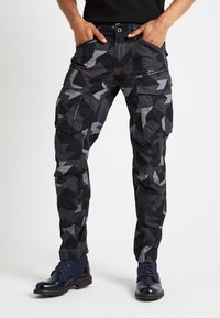 G-Star - ROVIX TAPARED - Cargo trousers - black/ grey/ anthracite - 0