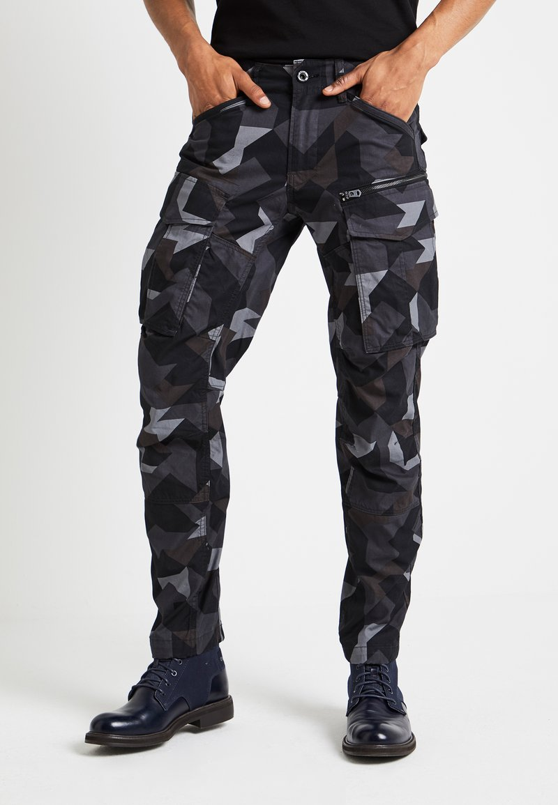 G-Star - ROVIX TAPARED - Cargo trousers - black/ grey/ anthracite
