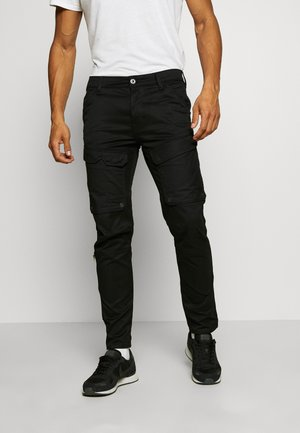 FRONT POCKET SLIM PANT - Cargo trousers - black