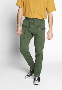G-Star - POWEL SLIM TRAINER - Cargo trousers - wild rovic - 0