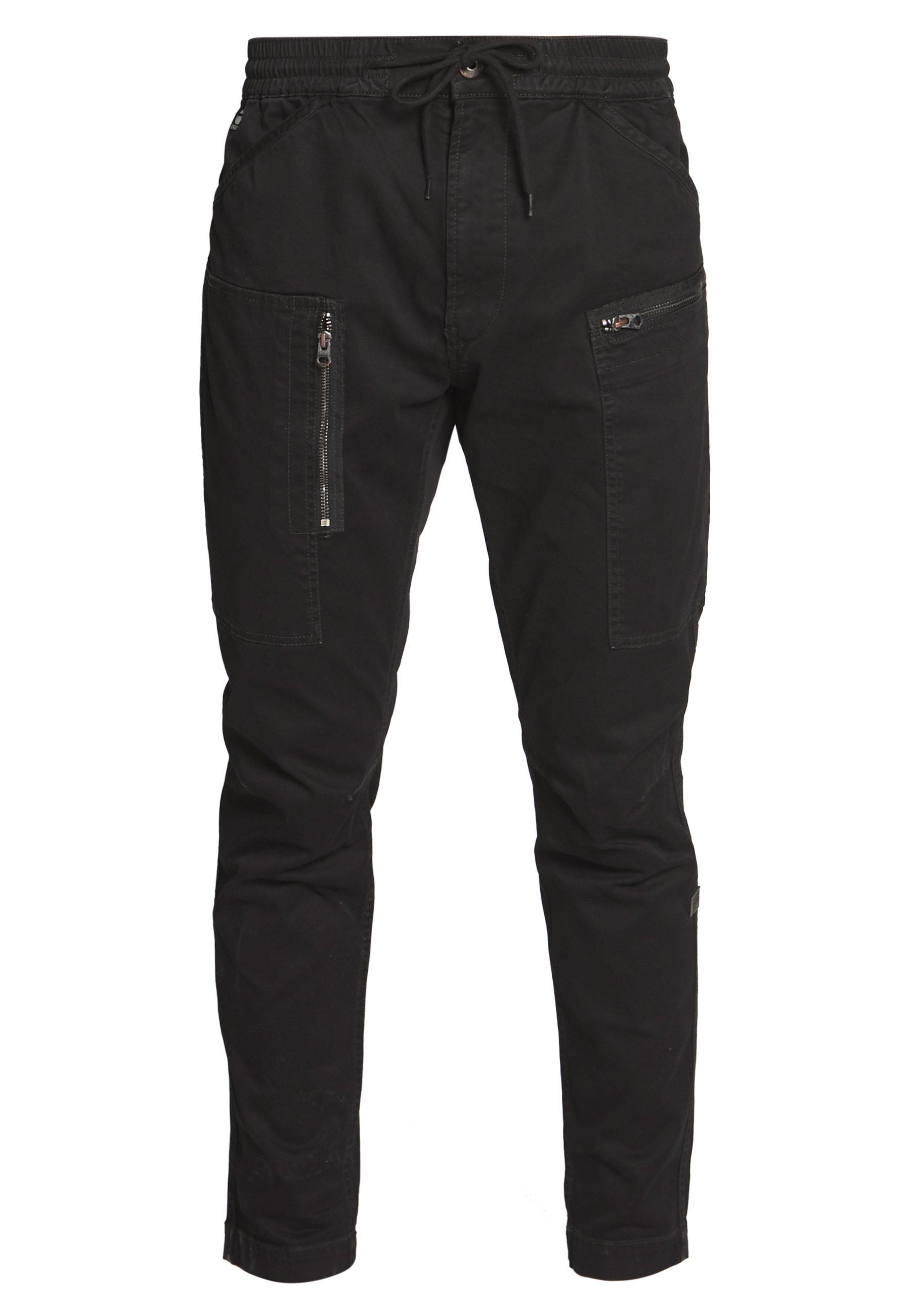 G-Star POWEL SLIM TRAINER - Spodnie materiałowe - dk black
