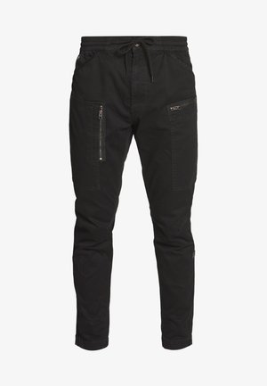 POWEL SLIM TRAINER - Cargo trousers - dk black