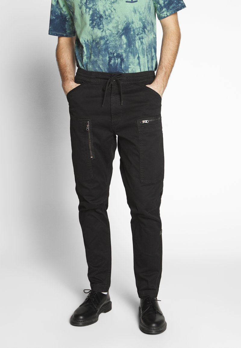 G-Star - POWEL SLIM TRAINER - Cargo trousers - dk black