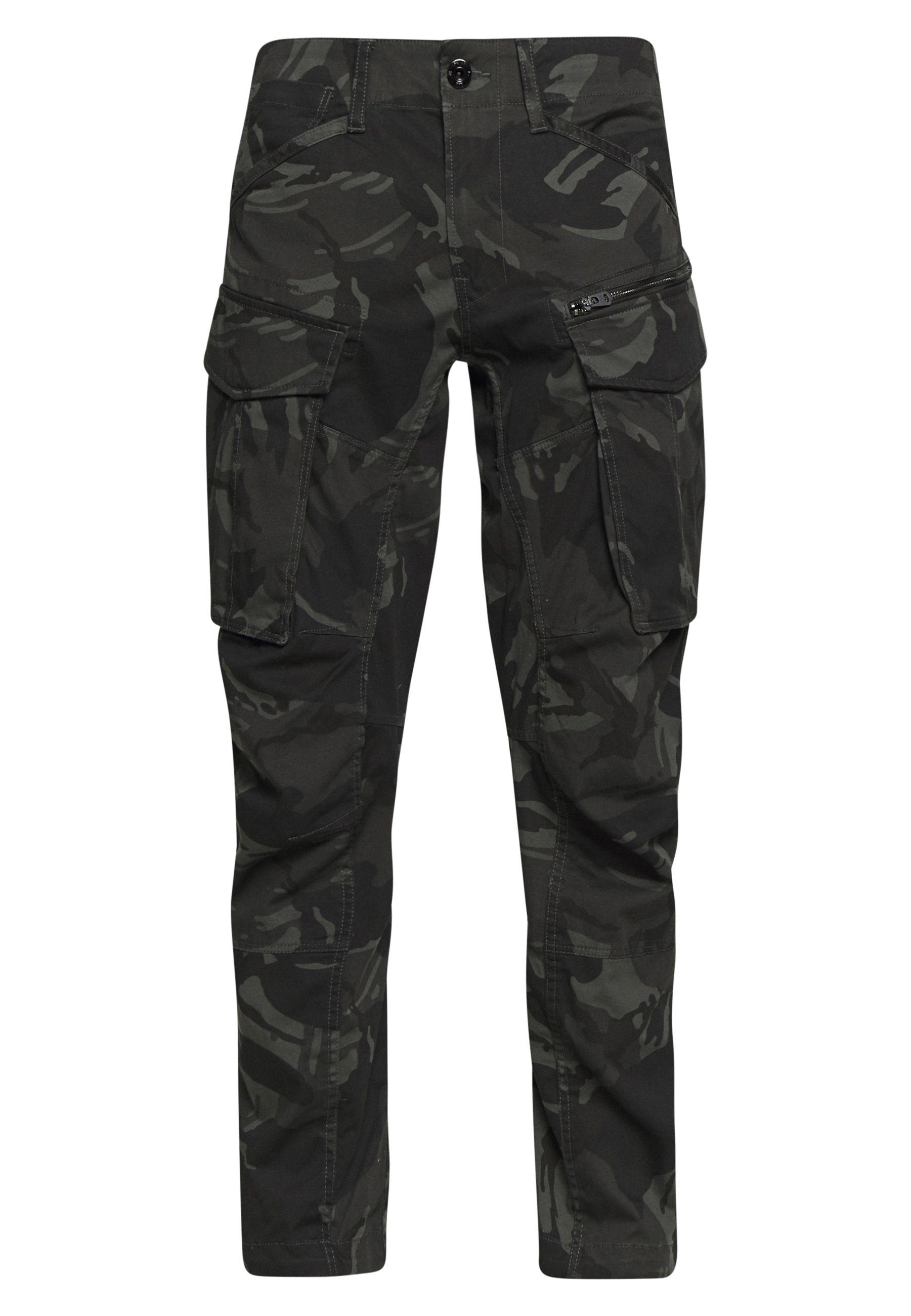 G-Star ROVIC STRAIGHT TAPERED ZIP - Pantaloni cargo - raven