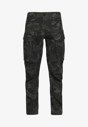 ROVIC STRAIGHT TAPERED ZIP - Cargo trousers - raven
