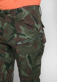 G-Star - ROVIC STRAIGHT TAPERED ZIP - Cargo trousers - wild dark combat - 5
