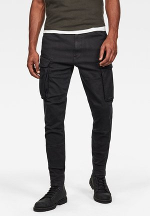 ROVIC SLIM TRAINER - Cargo trousers - black