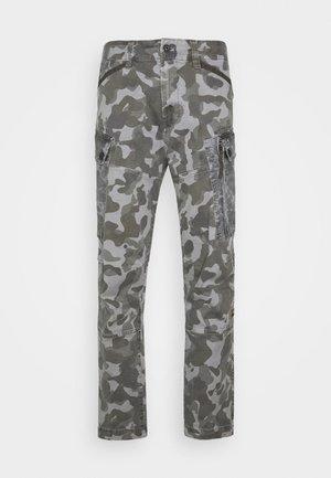 ROXIC STRAIGHT TAPERED PANT - Cargohose - black/dark grey