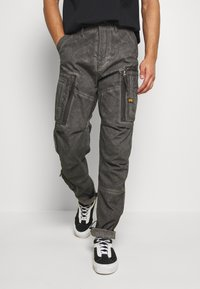 G-Star - ARRIS STRAIGHT TAPERED - Cargo trousers - black - 0