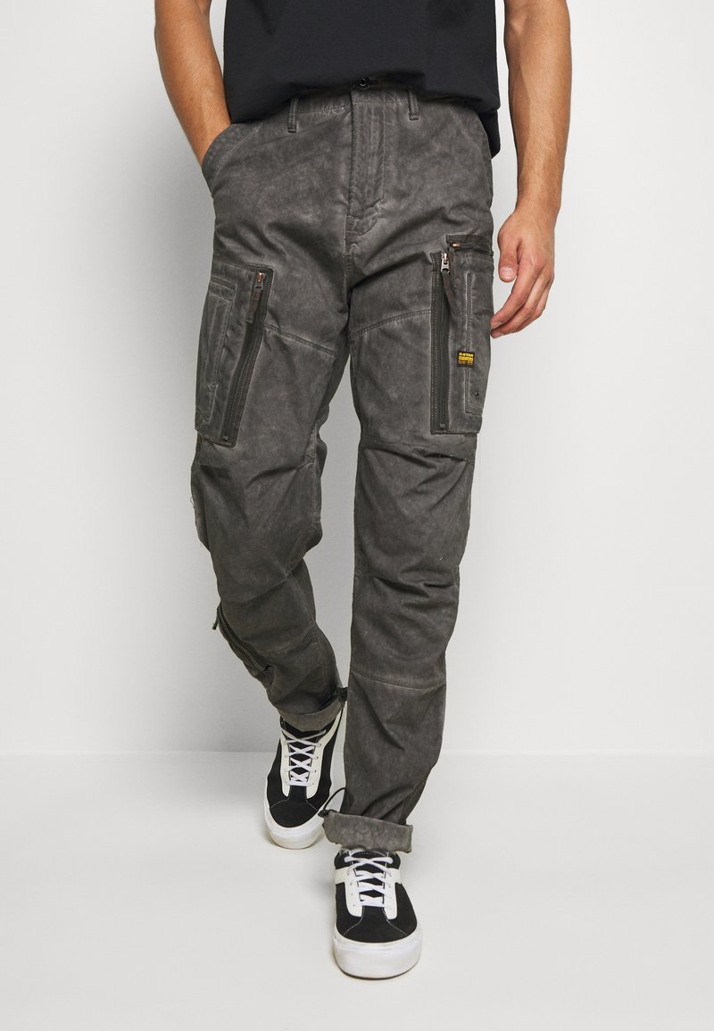 G-Star - ARRIS STRAIGHT TAPERED - Cargo trousers - black