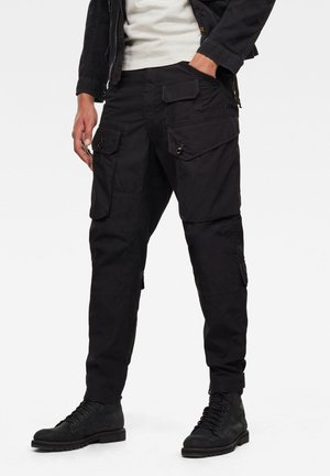 JUNGLE RELAXED TAPERED - Pantaloni cargo - dk black