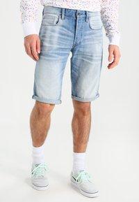 G-Star - 3301 SHORT - Shorts di jeans - sato denim - 0