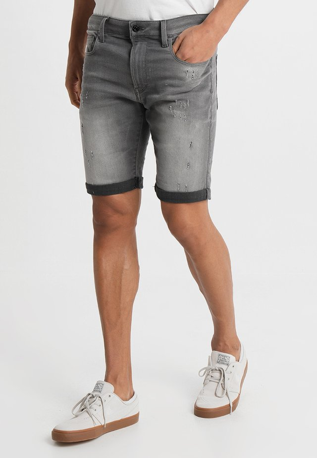 3301 Slim - Jeansshort - slander grey superstretch