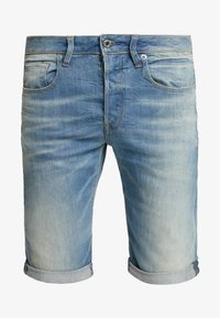 G-Star - 3301 TAPERED FIT - Jeans Shorts - cyclo stretch cenim light aged - 3