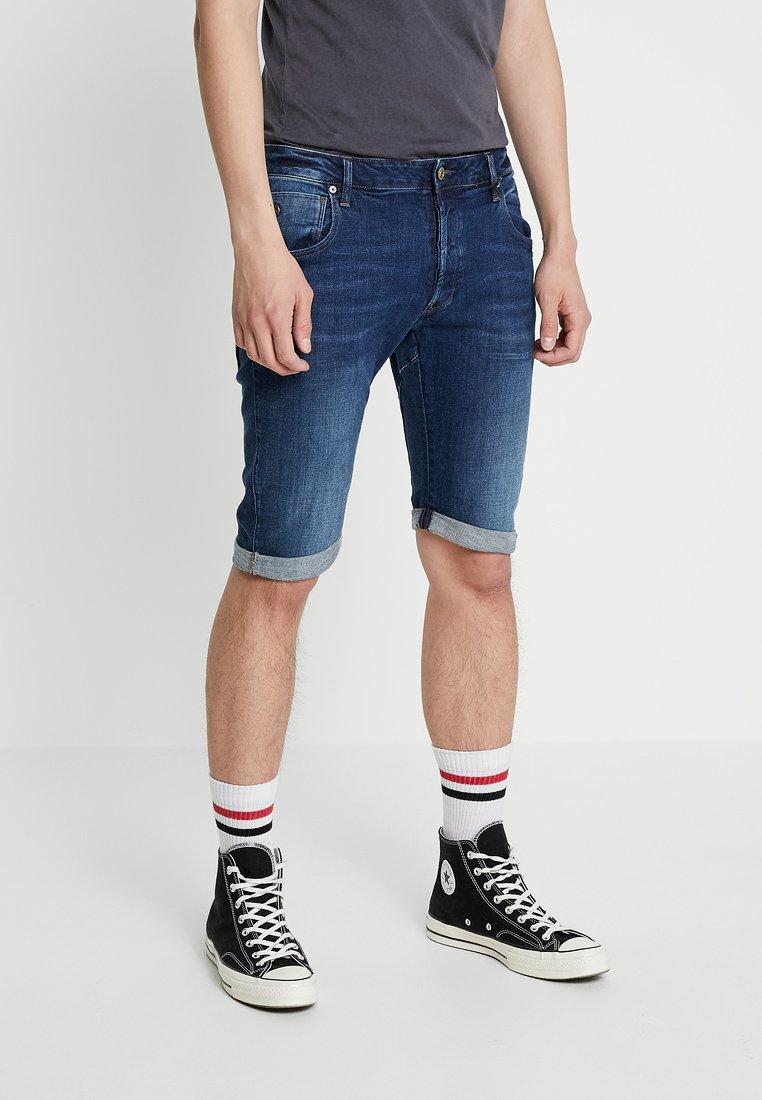 G-Star - ARC 3D 1/2 - Denim shorts - devon stretch denim dark aged