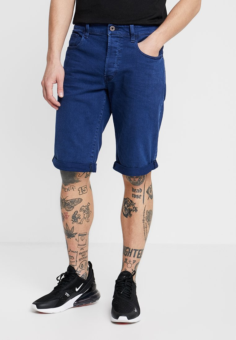 G-Star - 3301 1/2 - Jeans Short / cowboy shorts - inza stretch denim imperial blue