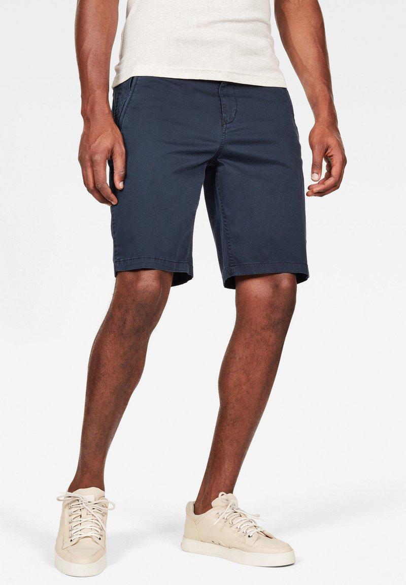 G-Star - CHINO TRAINER - Shorts - dark blue