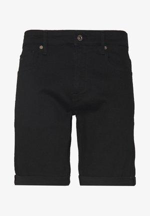 SLIM - Denim shorts - elto nero black