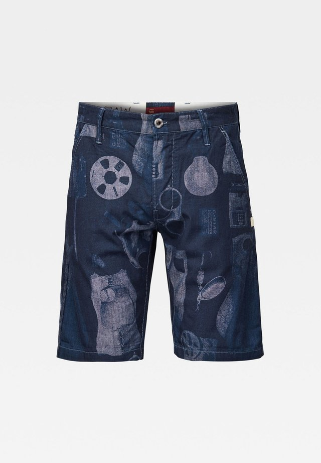 LOIC - Shorts - faded sartho blue mono objects