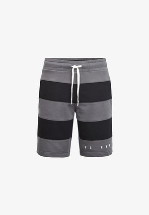 PREMIUM BLOCK STRIPE - Shorts - lt shadow/dk black