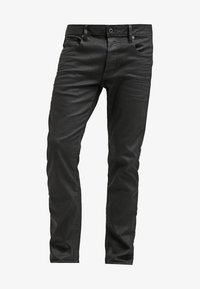 G-Star - 3301 STRAIGHT - Straight leg jeans - black pintt stretch denim