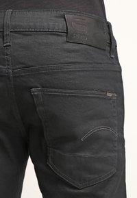 G-Star - 3301 STRAIGHT - Straight leg jeans - black pintt stretch denim - 4