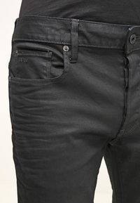 G-Star - 3301 STRAIGHT - Straight leg jeans - black pintt stretch denim - 3