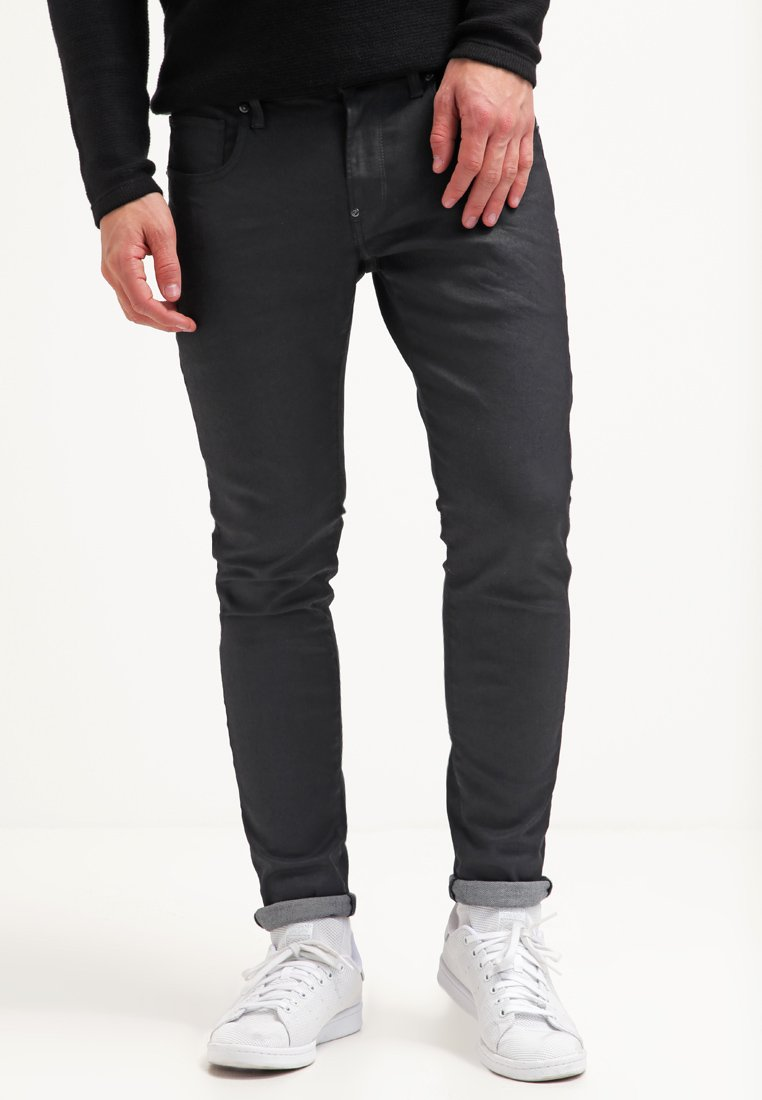 G-Star - REVEND SKINNY - Jeans Skinny Fit - black pintt stretch denim