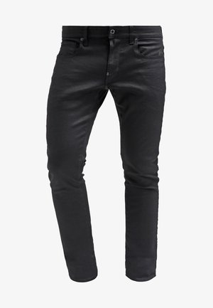 REVEND - Jeans Skinny - black pintt stretch denim
